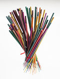 Creative group of colorful incense sticks Stock Photography