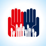 Creative group of hands,illustration Royalty Free Stock Photography