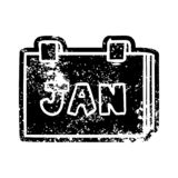 A creative grunge icon drawing of a calendar with jan. An original creative grunge icon drawing of a calendar with jan vector illustration