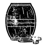 A creative grunge icon drawing of a wine barrel. An original creative grunge icon drawing of a wine barrel vector illustration