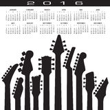2016 Creative Guitar Calendar. For Print or Web Stock Photo