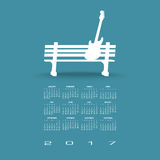 2017 Creative guitar calendar Royalty Free Stock Photography