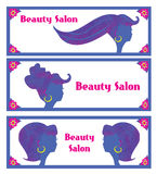 Creative hair salon banners. Stock Photo