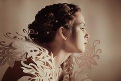 Creative hairdo and makeup Royalty Free Stock Image