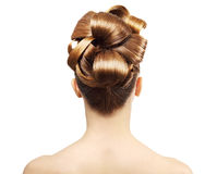 Creative hairstyle from behind Stock Photos