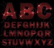 Creative halfton font style. Stock Photography