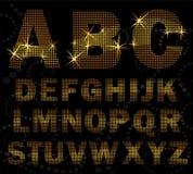 Creative halfton font style. Royalty Free Stock Image