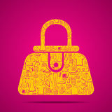 Creative hand bag design concept Royalty Free Stock Photography