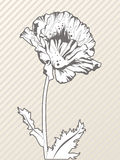 Creative hand drawn flower Stock Images