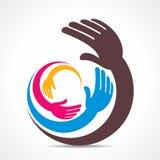 Creative hand icon design Stock Images