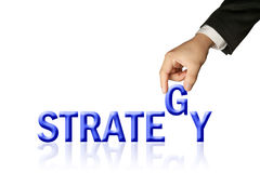 Creative of hand and word, Strategy Stock Photo