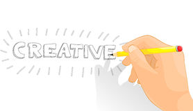 Creative hand Stock Image