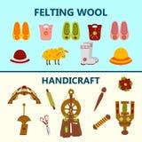 Creative handicraft banner Stock Image