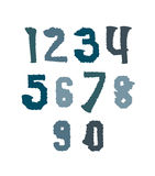 Creative handwritten colorful numbers set from 0 to 10, vector g Royalty Free Stock Photography