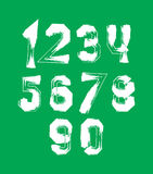 Creative handwritten over color numbers set Royalty Free Stock Photography