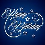 Creative Happy Birthday greeting. Stock vector Royalty Free Stock Image