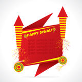 Creative happy diwali greeting design Royalty Free Stock Photography