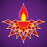 Creative happy diwali greeting design Royalty Free Stock Images