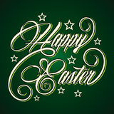 Creative Happy Easter greeting Stock Image