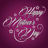 Creative Happy Mothers Day greeting Stock Image