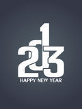 Creative happy new year 2013 design. Royalty Free Stock Photography