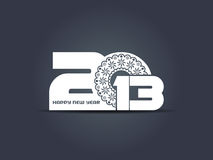 Creative happy new year 2013 design Royalty Free Stock Photo