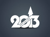 Creative happy new year 2013 design Stock Images