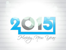 Creative Happy New Year 2015 Background. Beautiful elegant design of Happy new year 2015 Text Design Royalty Free Stock Photo