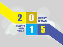 Creative Happy New Year 2015 Background. Royalty Free Stock Image