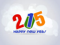Creative Happy New Year 2015 Background. Stock Photography
