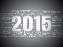 Creative Happy New Year 2015 Background. Beautiful elegant design of Happy new year 2015 Text Design Royalty Free Stock Image