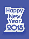 Creative Happy New Year 2015 Background. Royalty Free Stock Photos