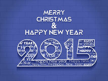 Creative Happy New Year 2015 Background. Stock Photos