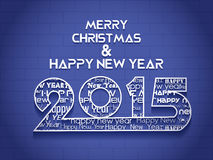 Creative Happy New Year 2015 Background. Stock Photo