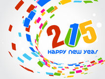 Creative Happy New Year 2015 Background. Royalty Free Stock Photo