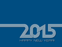 Creative Happy New Year background for 2015 Stock Photo