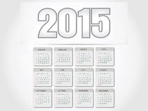 Creative Happy New Year 2015, CALENDAR. Royalty Free Stock Photo
