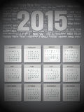 Creative Happy New Year 2015, CALENDAR. Stock Photo