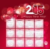 Creative Happy New Year 2015, CALENDAR. Royalty Free Stock Photos