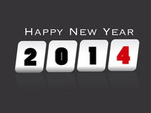 Creative Happy New Year 2014 celebration backgroun Stock Photos