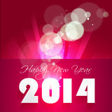 Creative Happy New Year 2014 celebration backgroun Stock Photo