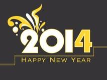 Creative Happy New Year 2014 celebration background Stock Images