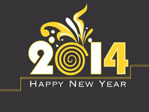 Creative Happy New Year 2014 celebration background Royalty Free Stock Image