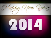 Creative Happy New Year 2014 celebration background Stock Photos