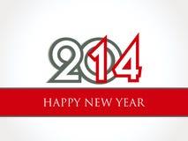 Creative Happy New Year 2014 celebration background Royalty Free Stock Image