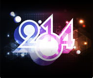 Creative Happy New Year 2014 celebration background. Creative Happy New Year 2014 background Royalty Free Stock Photos