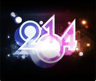 Creative Happy New Year 2014 celebration background Royalty Free Stock Photos