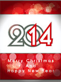 Creative happy new year 2014 and christmas design.celebration party poster, banner or invitations. Stock Images