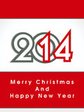 Creative happy new year 2014 and christmas design.celebration party poster, banner or invitations. Royalty Free Stock Photos