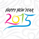 Creative happy new year 2015 design.  Stock Photos
